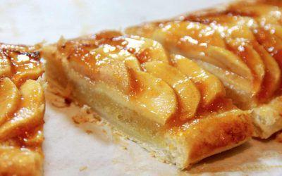 Tarta de Manzana con Hojaldre y Crema de Almendra