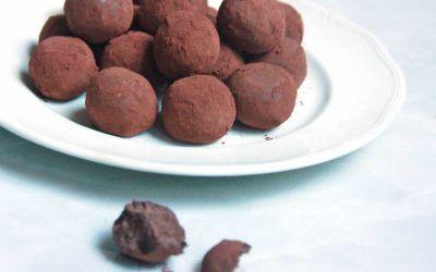 Trufas de Chocolate Negro con Leche Condensada
